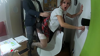 Naughty Schoolgirl Rides Her Teacher With Mother At Home