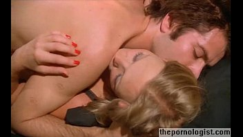 Couple fucking missionary style during thunderstorm in vintage porn movie