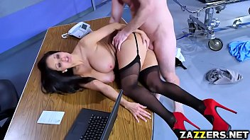 Dr Ava Addams bends over for Bill Baileys doggystyle