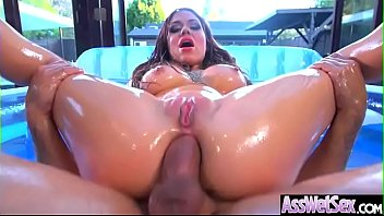 Anal Sex With Horny Big Butt Oiled Girl (Karmen Karma) video-16