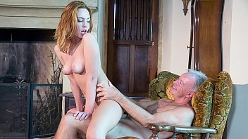 Old Man Fucks Hardcore A Teen Redhead Licks Her Pussy And She Takes Facial 10 Min