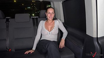 Takevan Foursome in driving car with Mea Melone Wendy Moon & big cock in night thumbnail