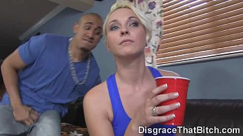 Shaved pussy gettin fucked Disgrace that bitch - fucking ashley stone in a slutty neighborhood