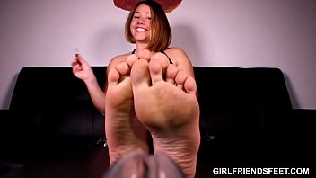 Femdom POV: Soles and Chastity Device