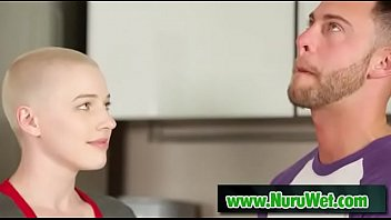 Masseuse Riley Nixon blows her client Seth Gamble in shower