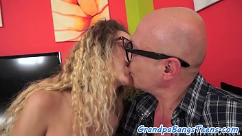 Spex teen loves getting fucked by grandpa