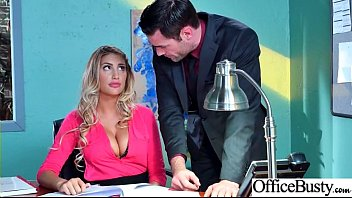 Round Big Tits Girl (August Ames) Get Banged In Office clip-10