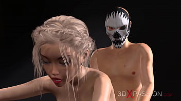 3dxpassion.com. The guy in the mask fucks the young female pianist.