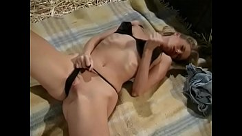 Tits apples Blonde slut candy apples playing with her pussy