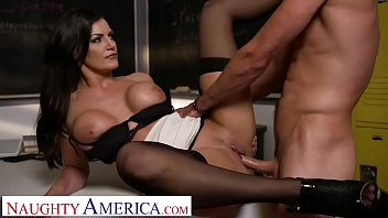 Naughty America Michelle Miller (Becky Bandini) teaches her student a lesson