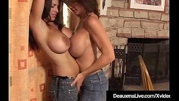 Dick rubbing on boobs - Busty cougars deauxma goldie blair compare their big boobs