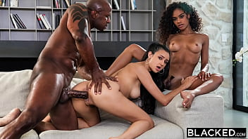 BLACKED Scarlit has threesome with her hubby & crush Eliza