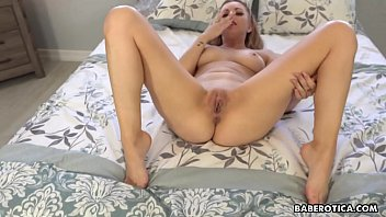 Solo blonde fuck doll, Lexi Belle is masturbating in 4K