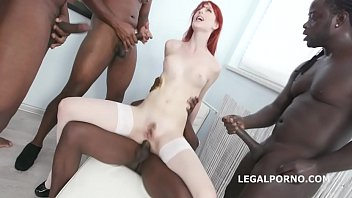 Alex Harper gets 5 BBC with balls deep anal, DAP and Gapes