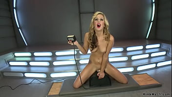 Blonde takes fucksall and Sybian