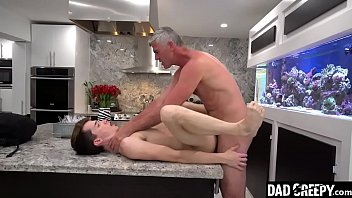 Stepson Bends Over And Lets His Pervy Stepdad Stick A Tongue In His Tight Hole - Alex Meyer, President Oaks