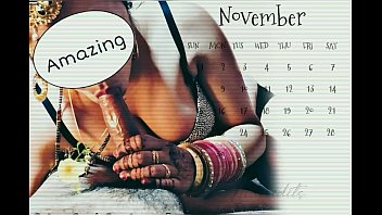 Desi Indian wife Mishthi's Calendar for Year 2020