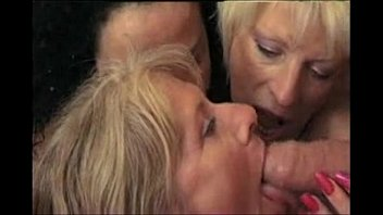 French Shemale With A Guy, Joined By Two Mature Women