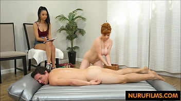 Massage class threesome
