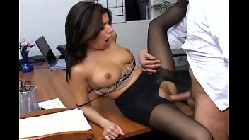 Sheer pantyhose fucked free video Busty secretary in sheer pantyhose has office sex