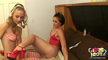 Real lesbian strapon orgasm by submissive wet female ex