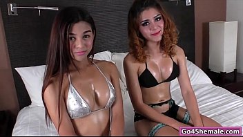 Shemale model names Petite asian shemale cuties name and toei jerk off together