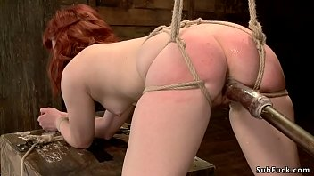 Redhead sub ass whipped and cunt toyed