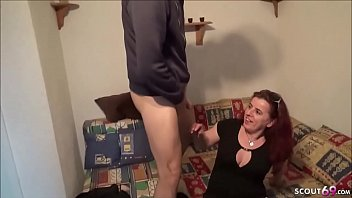 GERMAN MOTHER Seduce her STEP-SON to Fuck her when Dad Away