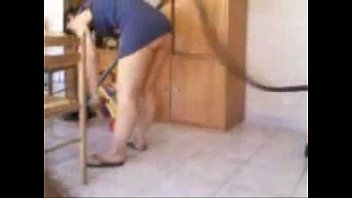 Nude women cleaning house - Taping my mom cleaning house with no panty