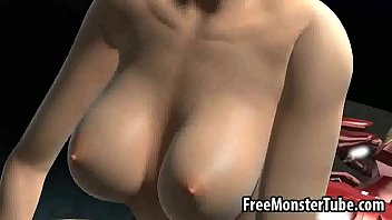3D babe sucks cock and gets fucked hard by Iron Manan3-high 2