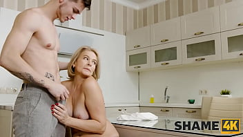 SHAME4K. Alluring cougar is visited by a stud who wants to fuck her