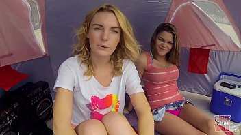GIRLS GONE WILD - Young &amp_ Gorgeous Lesbians Have Sex On The Beach