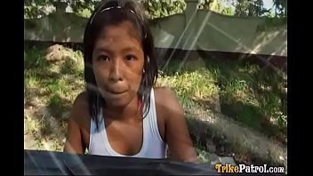 Dark asian girl Dark-skinned filipina girl trixie picked up by foreigner driving trike himself