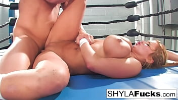 Sexy Shyla Stylez gets some lessons on MMA training but then gives a lesson
