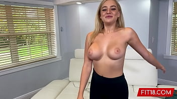 FIT18 - Blake Blossom Returns For Second Casting Showing Off Her Big Natural Breasts And Tattoo Free Thicc Body 12 min