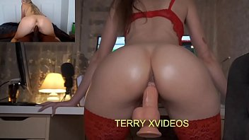 Girl with Perfect Body Rides Dildo