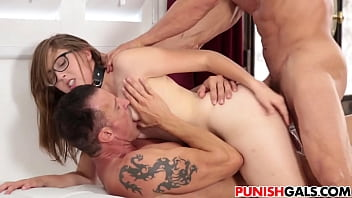 cheating slut gets double penetrated