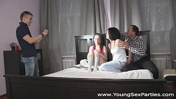 Young Sex Parties - Team gang-bang up for a fuck Grace Izi Ashley teen porn
