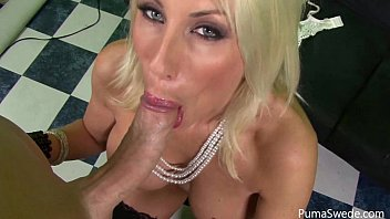 Blonde Euro Babe Puma Swede Sucks Big Cock For Cum!!