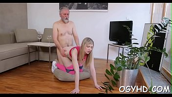 Avid old dude fucks young girl