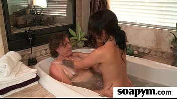 Soapy Massage End With a Big Cumshot 9