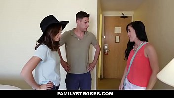 FamilyStrokes - StepSiblings Fuck During Family Vacation