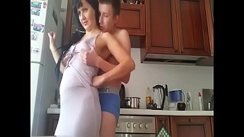 Stepmom and son hidden cam