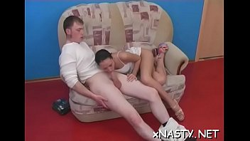Legal age teenager babe sucks and then fucks her hung horny paramour