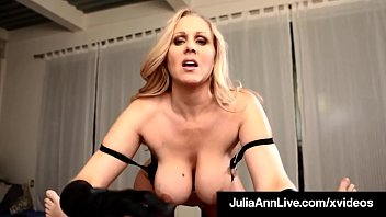 Cock Stroking Queen Milf Julia Ann Uses Gloves To Milk Dick!