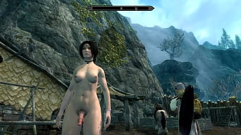 Sexy White Nord dickgirl fucks Orcish female MILF | SKYRIM