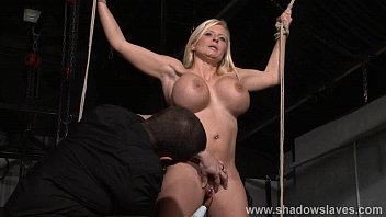 Busty slave Melanie Moons electro t. and strict german bdsm punishment of