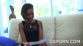 Elegant ebony lady gets fucked for not paying the bill