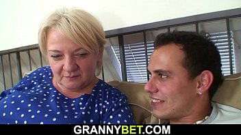 Busty old mature blonde