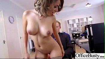 CoverSlut Horny Girl (Cara Saint-Germain) With Big Melon Tits Enjoy Sex In Office video-13